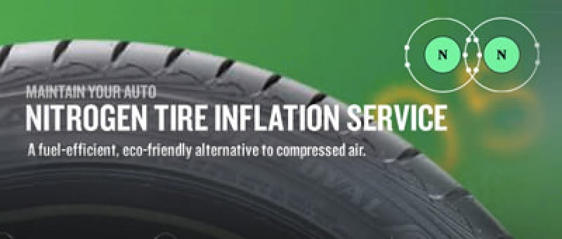 Nitrogen Tire Inflation Service: A fuel-efficient, eco-friendly alternative to compressed air.