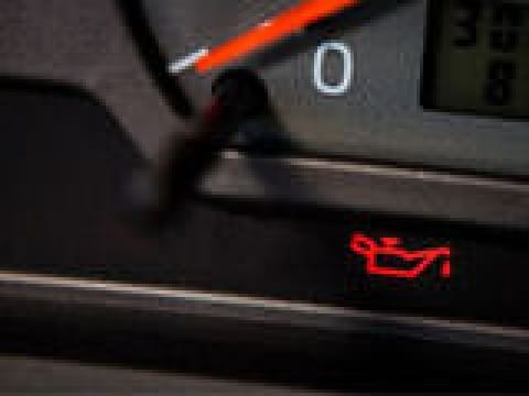 Oil pressure warning light: Not be ignored