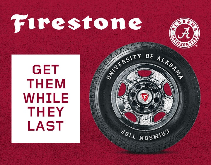 Firestone Releases Limited Edition Alabama Tire