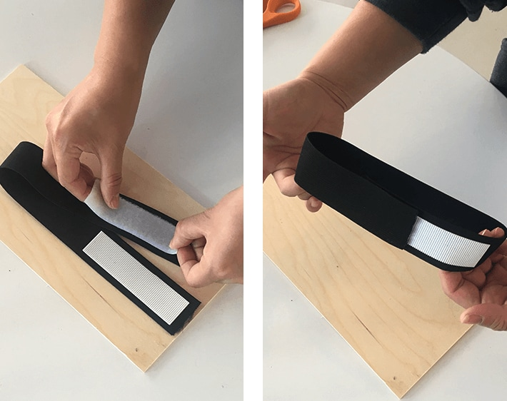 Step 2 - Attach Velcro to elastic bands