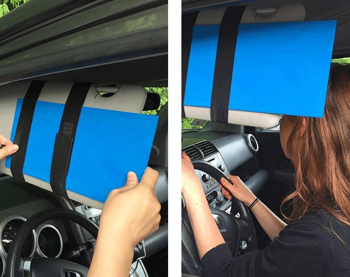 Step 5 - Slide the extender board under the elastic bands