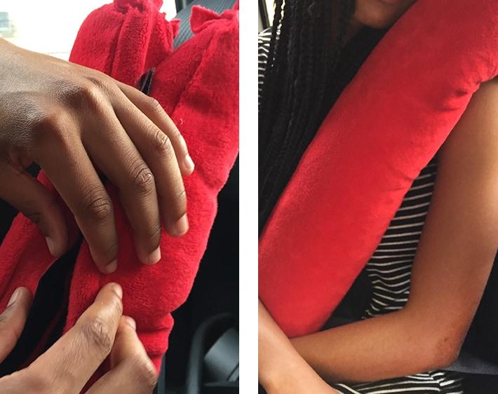 DIY Seatbelt Pillow by Firestone Complete Auto Care