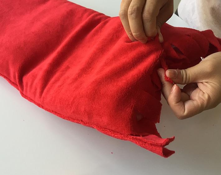 DIY Seatbelt Pillow - Step 6