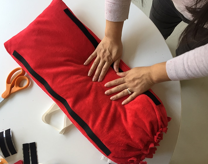 DIY Seatbelt Pillow - Step 7