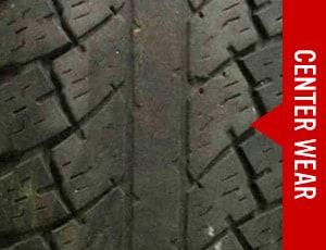 Center tire wear pattern