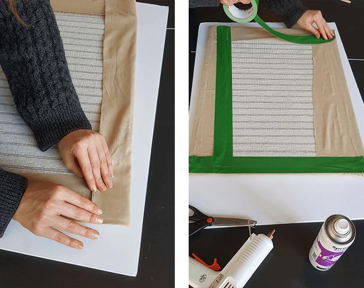 Folding fabric over car mat