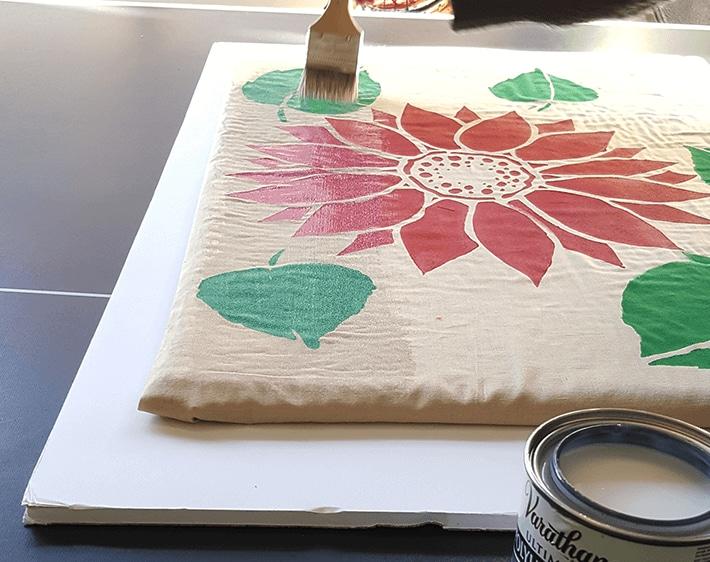 Brushing fabric and mat with polyurethane