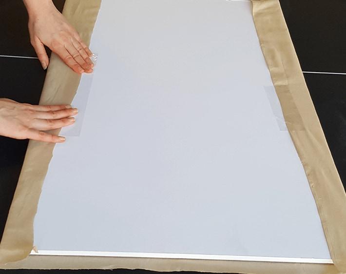 Preparing to paint fabric