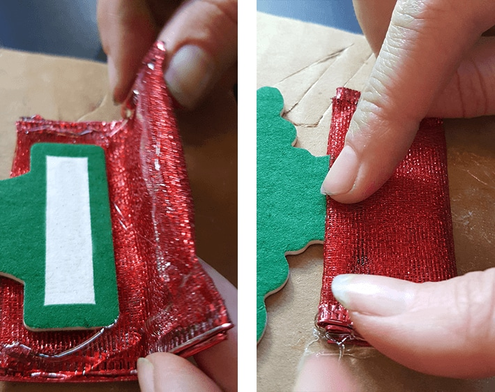 Create a tree skirt with ribbon on bottom of air freshener