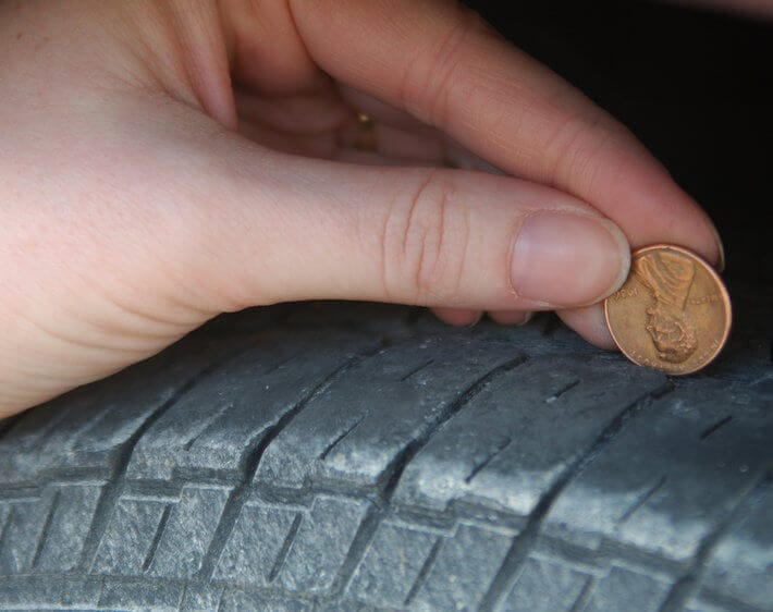 How to Check Tire Tread Depth with a Penny