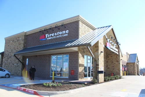 Exterior view of Cross Roads, Texas Firestone Complete Auto Care store