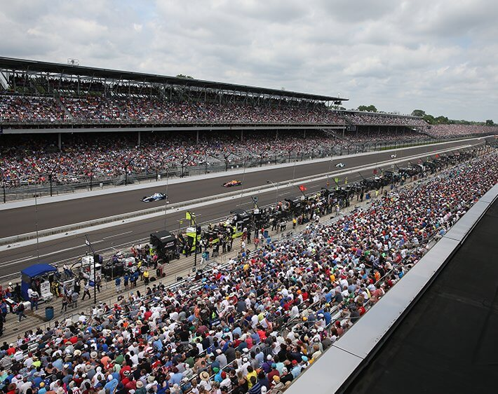 Indianapolis 500 Speedway filled with people