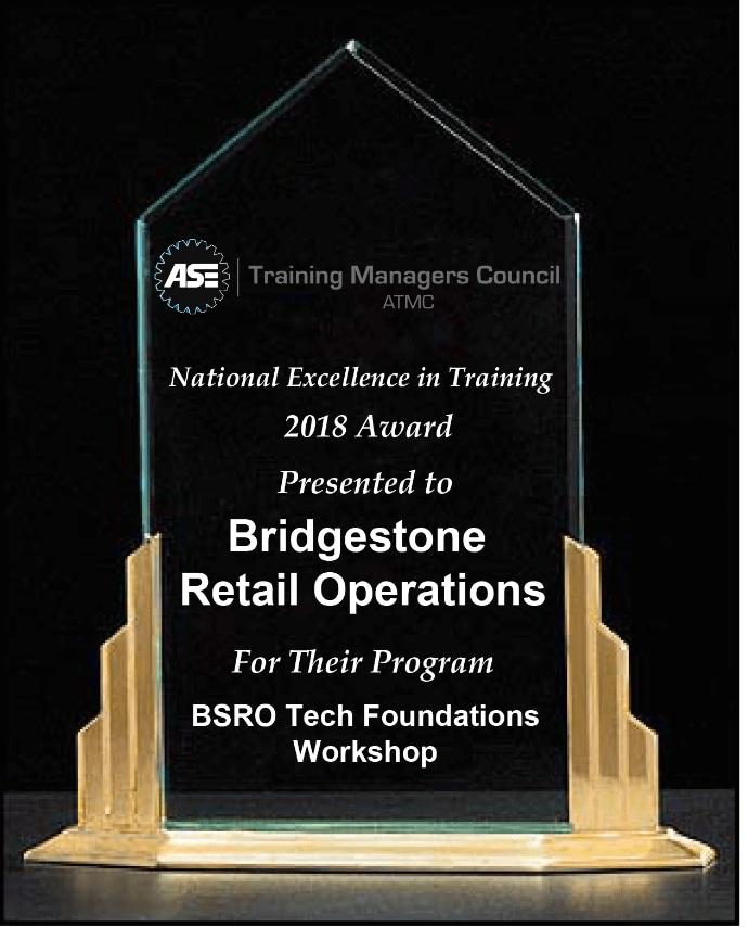 Bridgestone Retail Operations Award