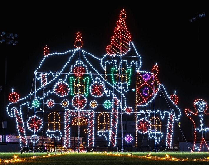 holiday Christmas lights display