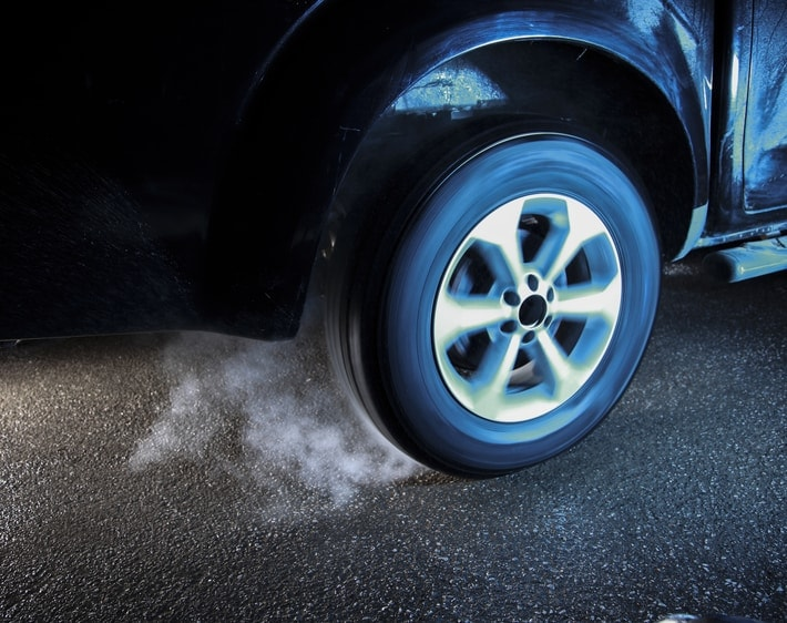 Tire spinning out