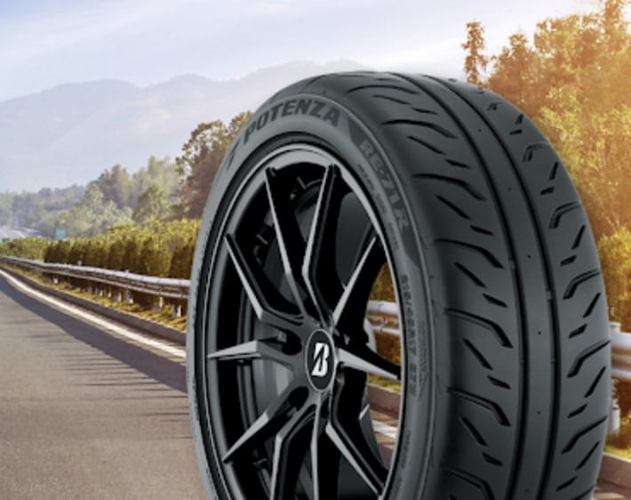 Potenza directional tire
