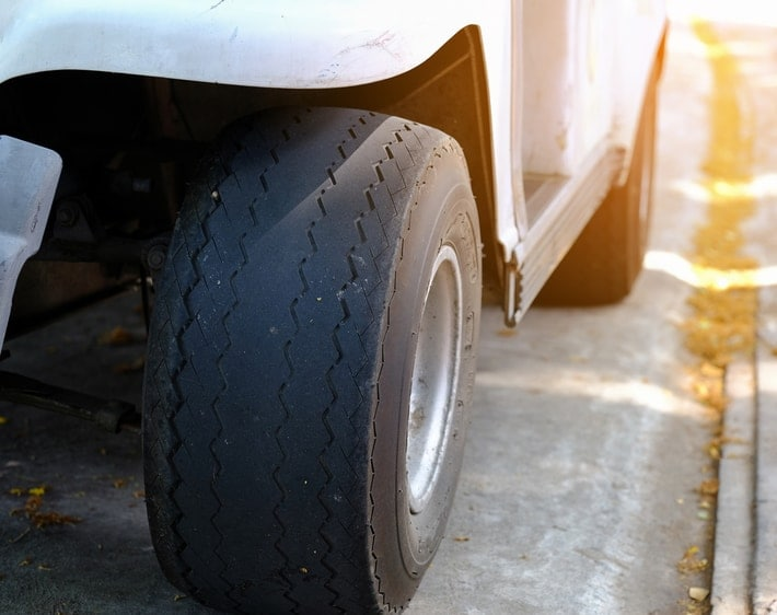 bald tire on a vehicle