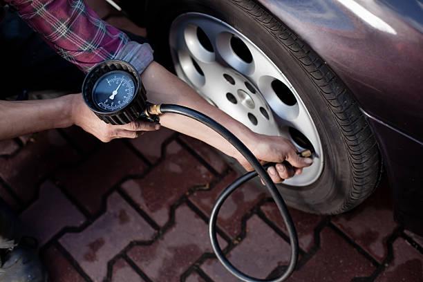 膨胀的轮胎的图像