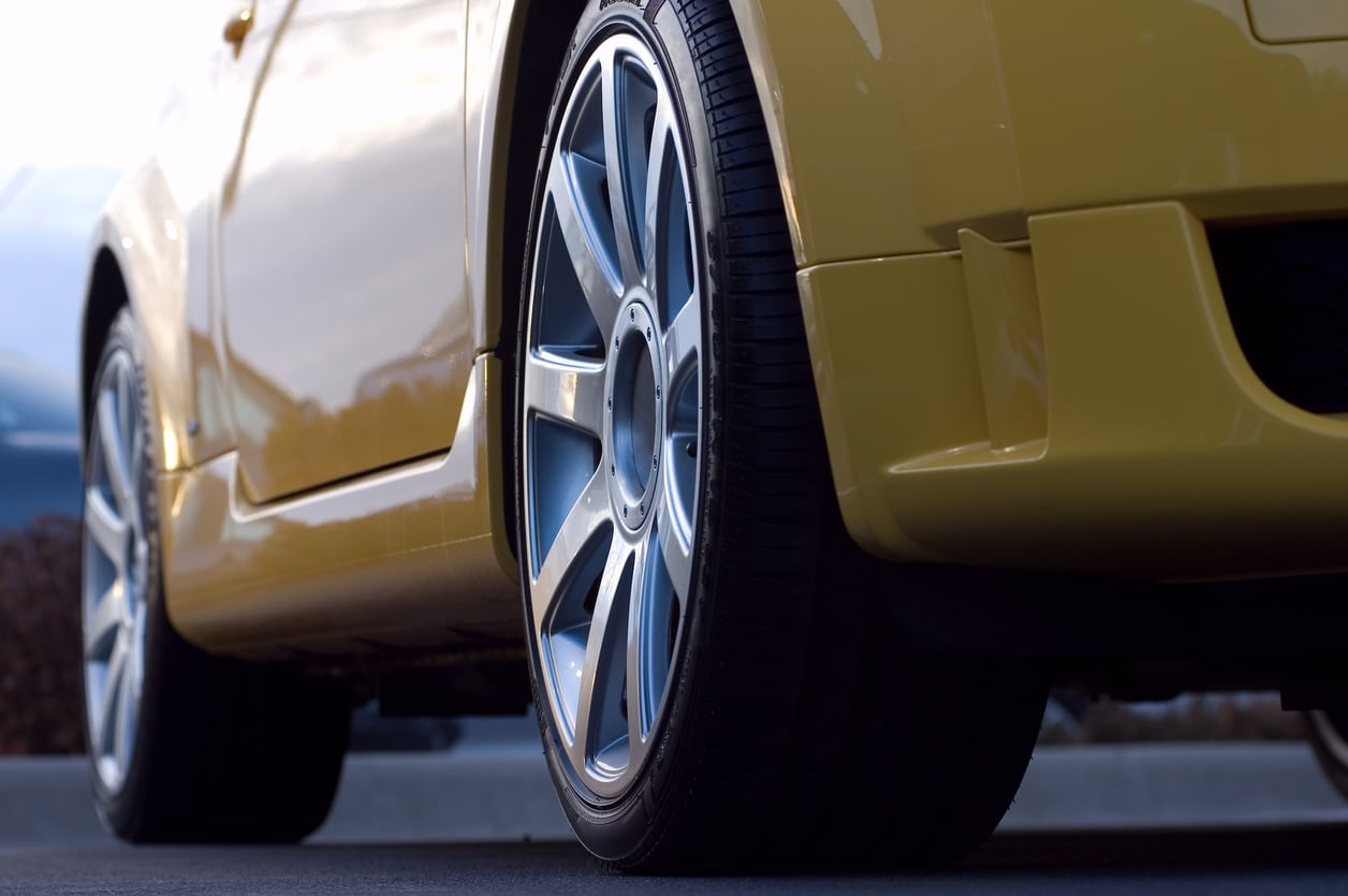 image of a car's rear tire