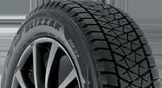 Top half section of a Blizzak tire