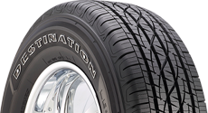 Top half section of a Destination tire