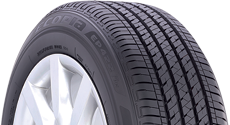 Top half section of an Ecopia tire